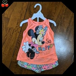 🍒NWT Minnie 🌞 Top & Shorts Outfit
